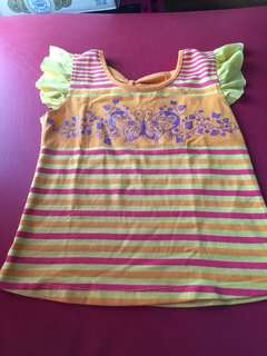 Yellow cute blouse for kids