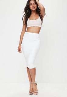 White bandage skirt