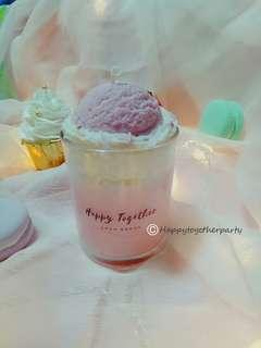 Korean style ice cream candle