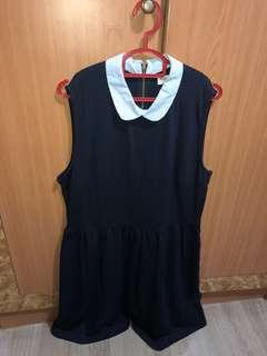 XL Dark Blue Cotton Stretchable Dress