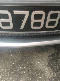 Looking for 8788 car Number Plate