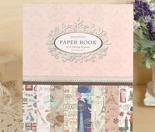 London Paris Vintage Decorative Wrapping Paper Book