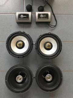 "6.5"" component and coaxial speakers"