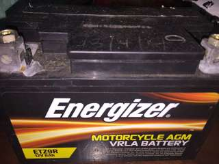 Agm motorcycle battery etz 9r 12v8ah battery