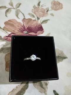 silver 925 engagement ring size 5 1/2