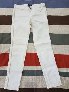 Mango White Denim Pants