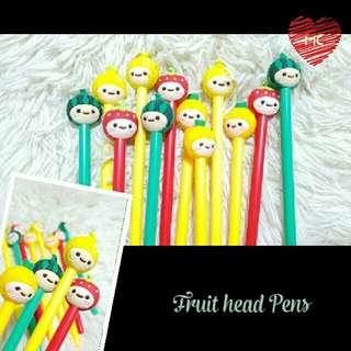 12 pcs Fruit head pens