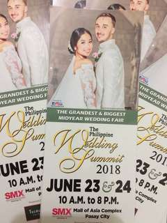 FREE Tickets!! The Philippine Wedding Summit❤️ June 23 & 24 @SMX Moa Pasay City