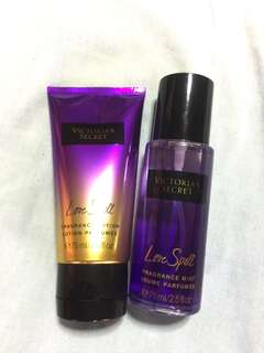 Victoria's Secret Love Spell Fragrance Lotion and Perfume