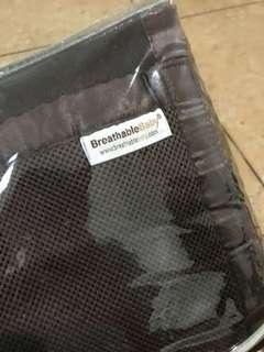 Breathable Crib Liner 2 Sets (Brown & Pink)