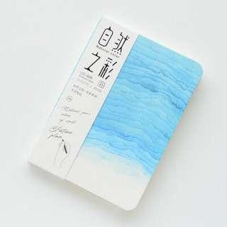 A5 aesthetic notebook (sea/blue)