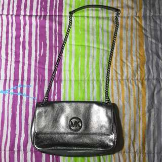 MICHAEL KORS Silver Chain Bag