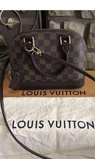 Authentic Lv Alma Bb Damier Ebene
