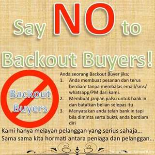 ❌ No Backout Buyer