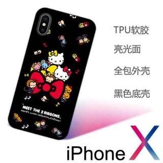 Hello kitty黑色聚會iPhone X 卡通手機殼