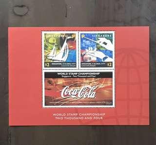 Singapore 2004 World Stamp Exh MS Coca Cola sheet MNH (very slight gum toning)
