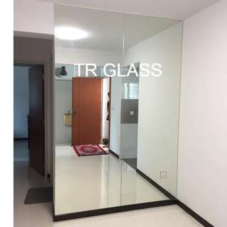 Frameless Clear Mirror (Quote by Size)