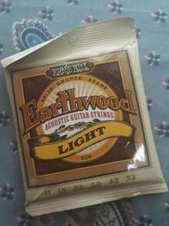 Ernie Ball 80/20 Bronze Alloy Earthwood Acoustic Guitar Strings Light 11-52
