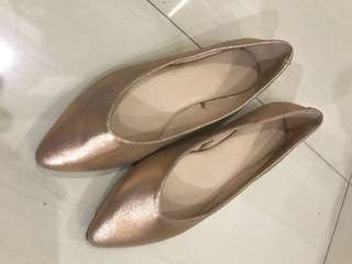 Gold flats (used once)