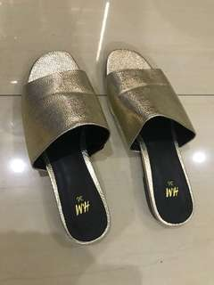 Gold sandals (used twice)