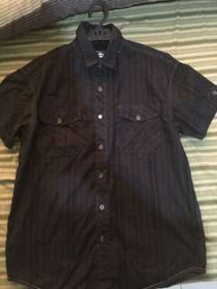 BRAND NEW Black x Navy Short Sleeve Polo (BRAND NEW U.S)
