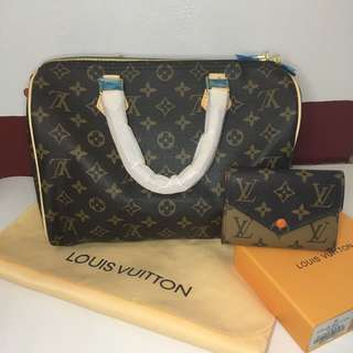(BUNDLE) Lv speedy 30 and wallet