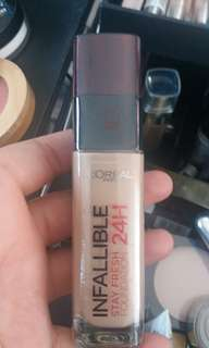 loreal infallible stay fresh foundation 24hr 115