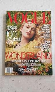 Vogue US Magazine | December 2005 | Kiera Knightley