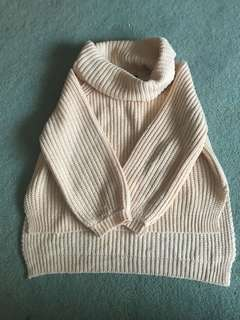 Knitted turtle neck jumper