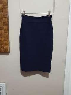 BCBGMAXAZRIA bodycon navy blue skirt