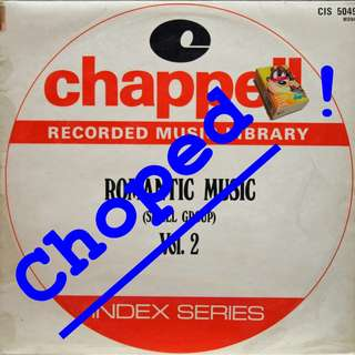 chappell romantic music Vinyl LP used, 12-inch, may or may not have fine scratches, but playable. NO REFUND. Collect Bedok or The ADELPHI.