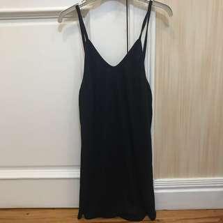 Navy Blue Slip-On Dress