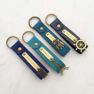Custom keychain personalised keychain name keychain personalised gift handstamped