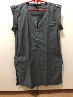 Soft denim like dress