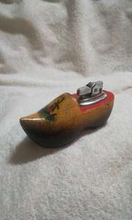 Vintage Wooden Hand Painted Holland Shoe Lighter