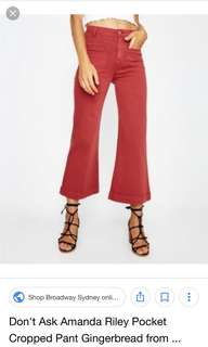 WTB don't ask amanda red pants