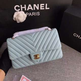 Chanel Chevron Lambskin Classic Flap Bag