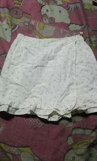 Simple White Floral Skirt