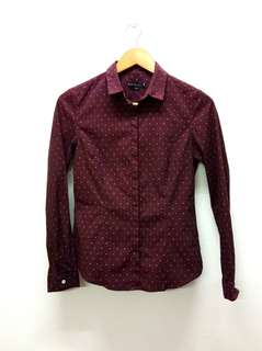 Padini Maroon Office Shirt (M)