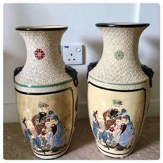 Large Pair of Vintage Vases