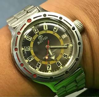 Vintage Russia winding diver watch