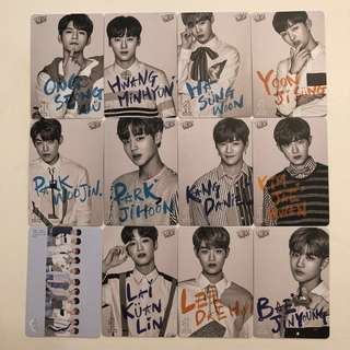 Wanna One Yes! Card 專輯卡 白卡 #13-24