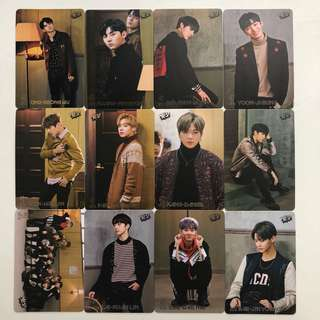 Wanna One Yes! Card 專輯卡 part1 白卡 #61-72
