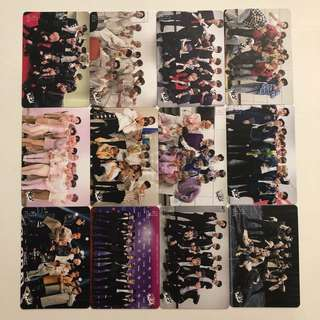 Wanna One Yes! Card 專輯卡 part1 白卡 #85-96