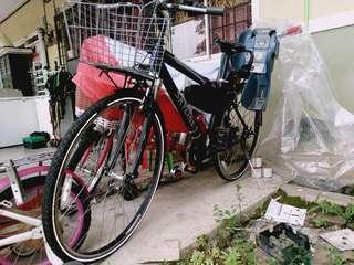 Touring bike, basikal touring, bicycles,hybrid bike