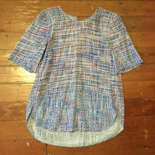 Saba blue printed silk top