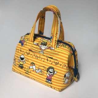 Mini Loaf Bag -  Yellow Snoopy & friends. Handmade.
