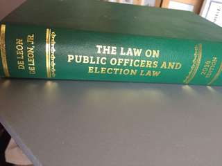 The Law on Public Officers and Election Law 2014 Edition (De Leon)