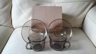 法國 arcoroc 茶杯兩套裝