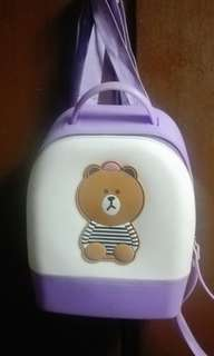 Lavander Bear Backpack